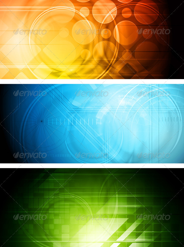 Technical banners - Backgrounds Decorative