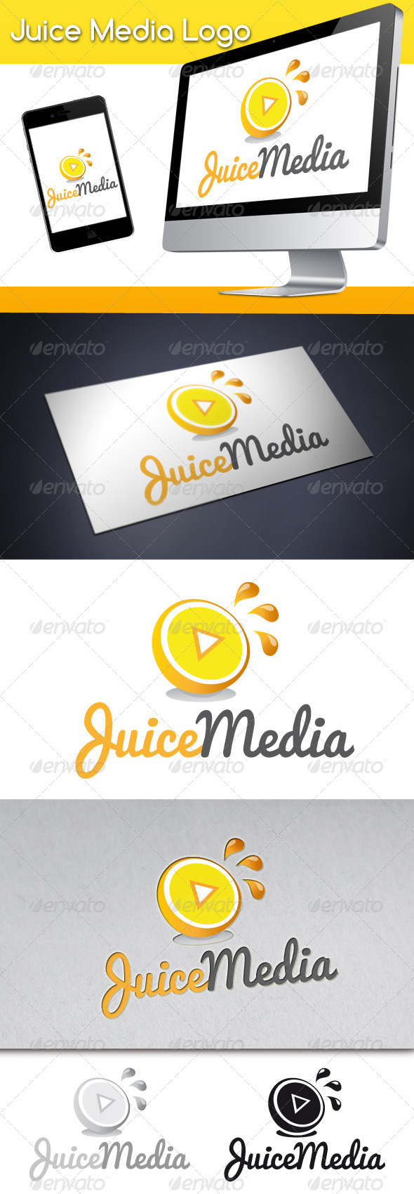 Juice Media Logo - Food Logo Templates