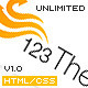 123Theme Premium Html/Css Site Template - ThemeForest Item for Sale