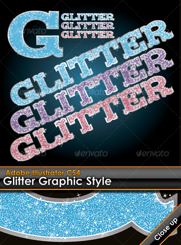 GraphicRiver Glitter Illustrator Graphic Style 96600