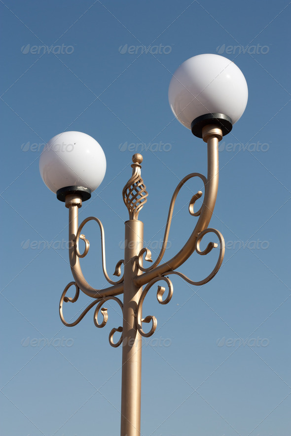 lights in the park - Stock Photo - Images