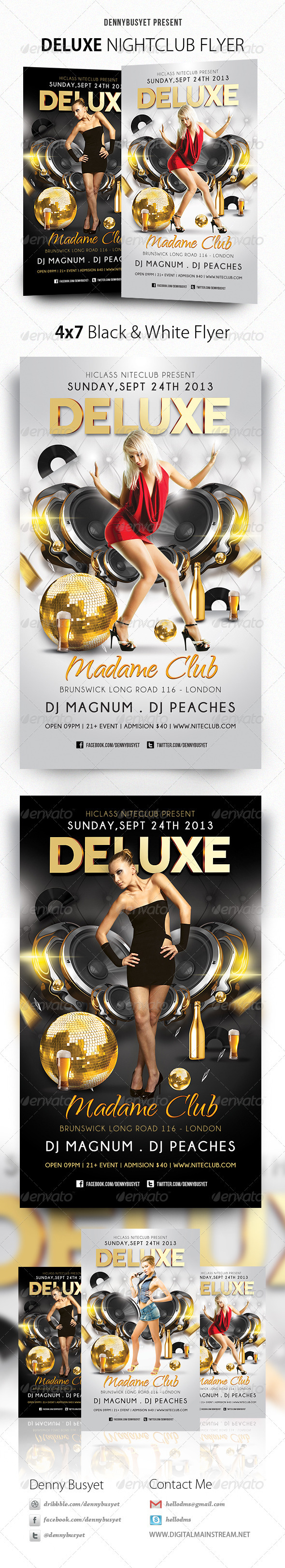 Deluxe Nightclub Flyer - Events Flyers