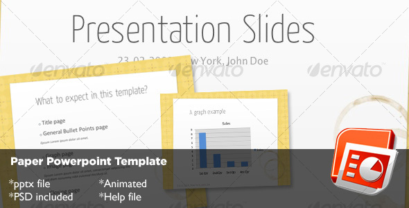 Paper Powerpoint Template - Creative Powerpoint Templates