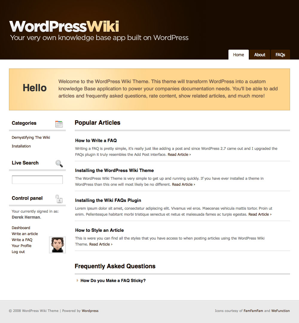 WordPress Wiki Theme