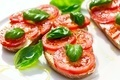 Delicious bread  with tomato and basil - PhotoDune Item for Sale