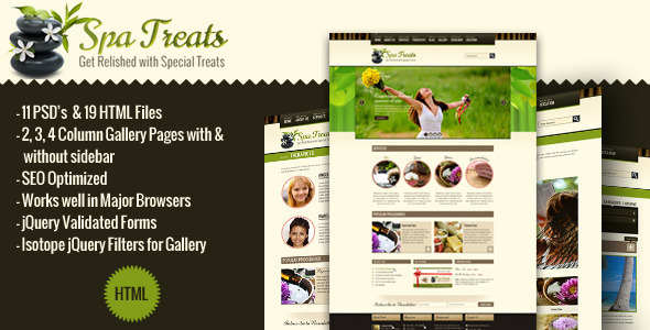 Spa Treats - A Health / Spa Salon HTML Template - Health & Beauty Retail