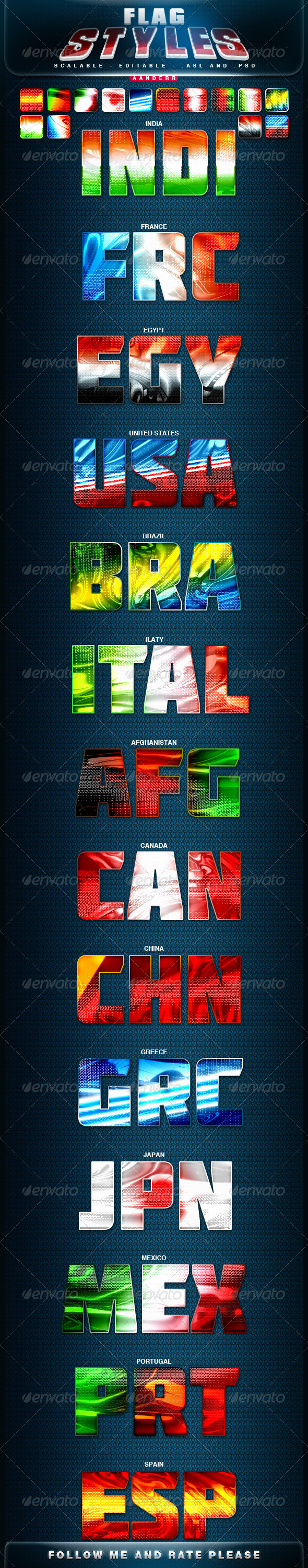 GraphicRiver Flag Styles 2887752