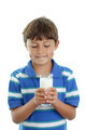 Boy holding glass of milk - PhotoDune Item for Sale