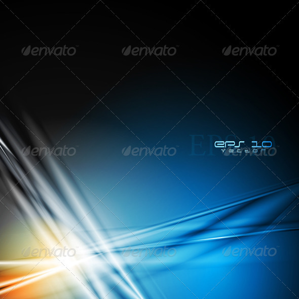 Dark blue modern background - Abstract Conceptual