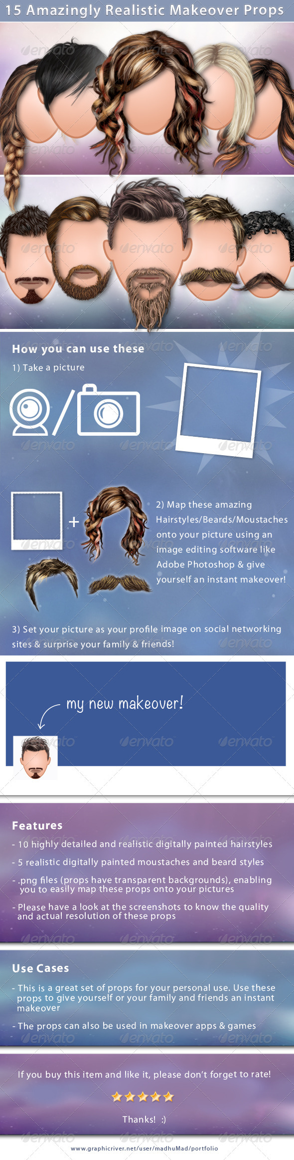 15 Realistic Makeover Props - Miscellaneous Illustrations