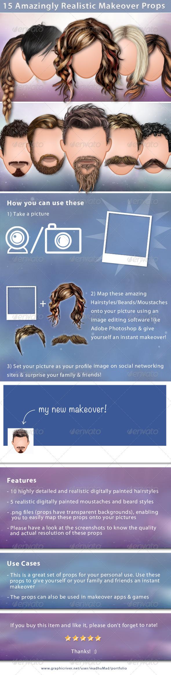 GraphicRiver 15 Realistic Makeover Props 2889156