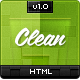 Clean HTML CSS Template - ThemeForest Item for Sale