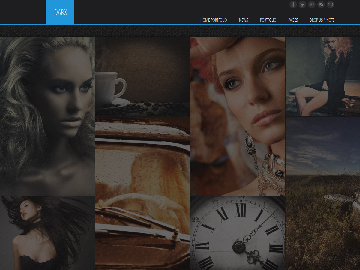 Darx - Responsive Dark Portfolio HTML/CSS Theme