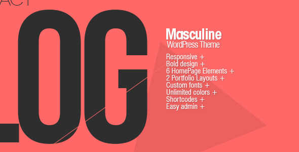 Masculine - Responsive WordPress Theme