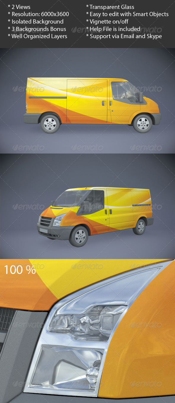 Van Mock-Up - Vehicle Wraps Print