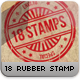 18 Editable Rubber Stamps B-Graphicriver中文最全的素材分享平台