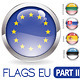 Buttons with EU Flags - GraphicRiver Item for Sale