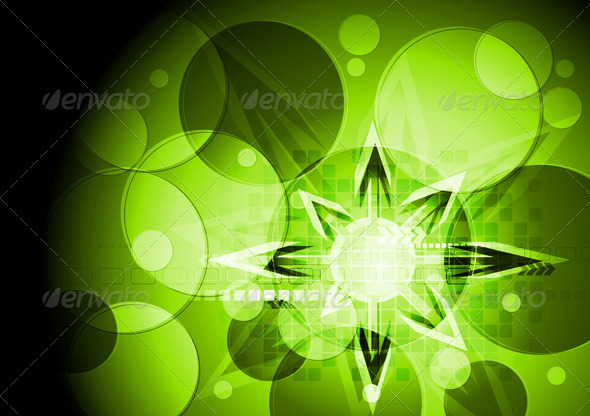 Green vibrant hi-tech design - Backgrounds Decorative