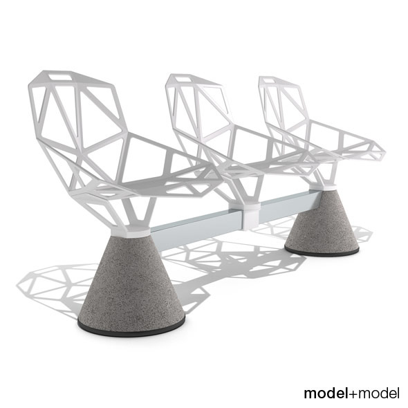3DOcean Magis Chair One Public Seating System 1 3D Models -  Furnishings  Seating 304984