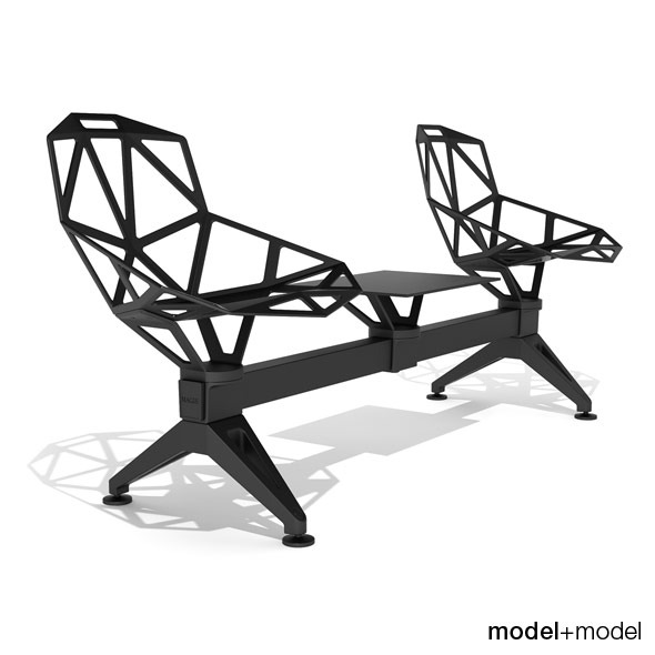 3DOcean Magis Chair One Public Seating System 2 3D Models -  Furnishings  Seating 305098