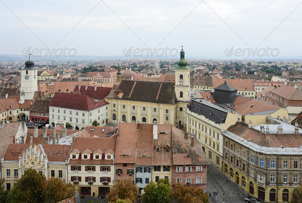 Sibiu in Romania - Stock Photo - Images