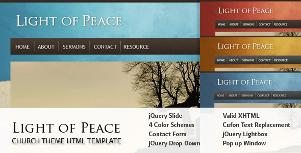 Light of Peace - This is the overview of the template.