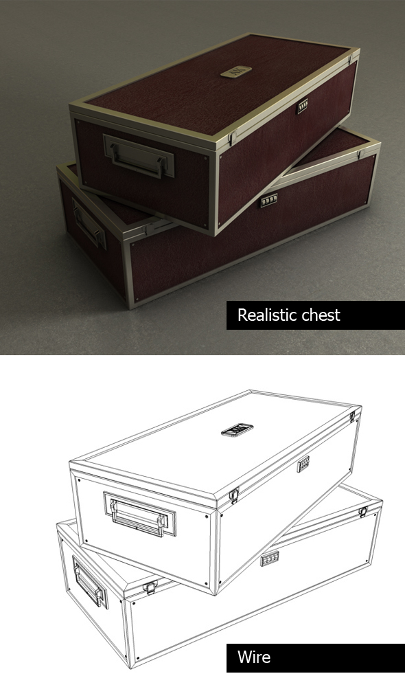 3DOcean Realistic chest 103741