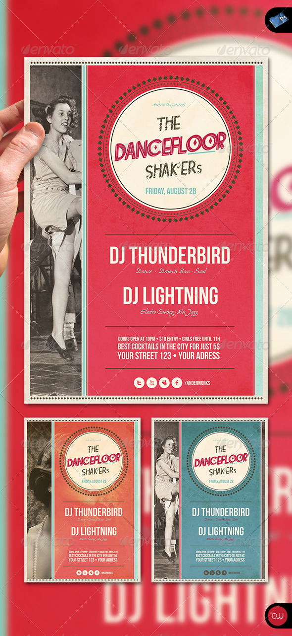 Music & Event Flyer - Dancefloor Shaker's - Events Flyers