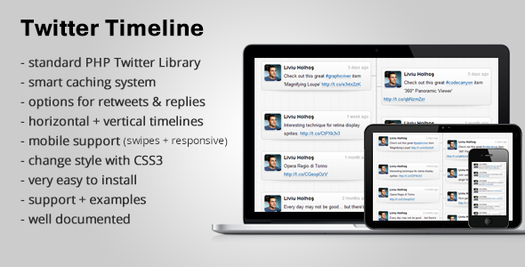 CodeCanyon Responsive Twitter Timeline 2728645
