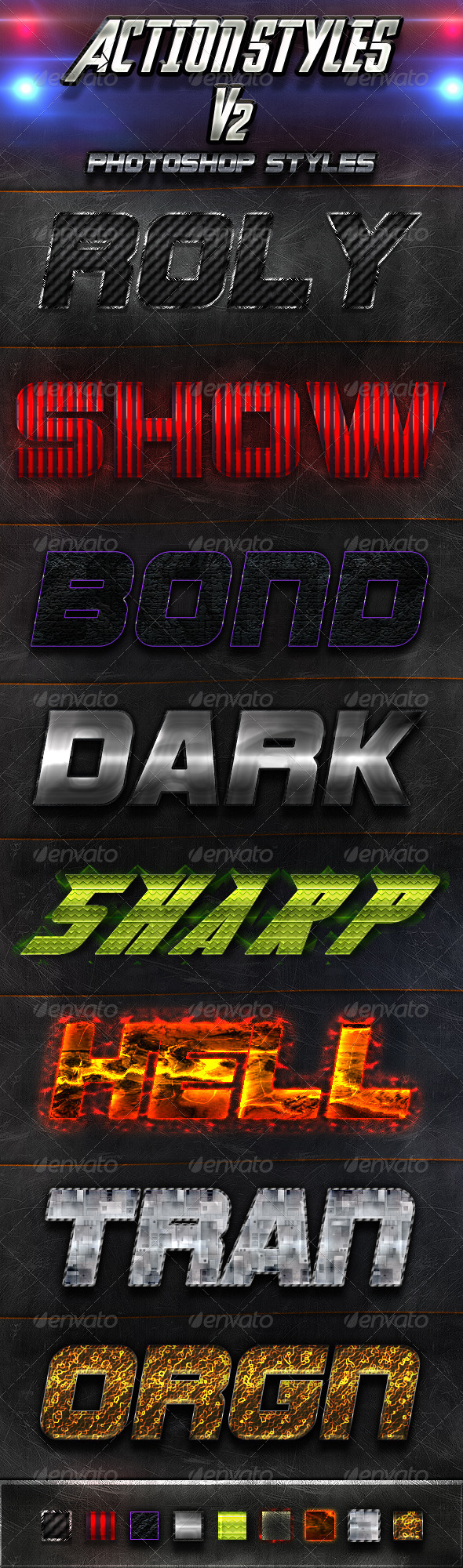 Action Styles V2 - Text Effects Styles