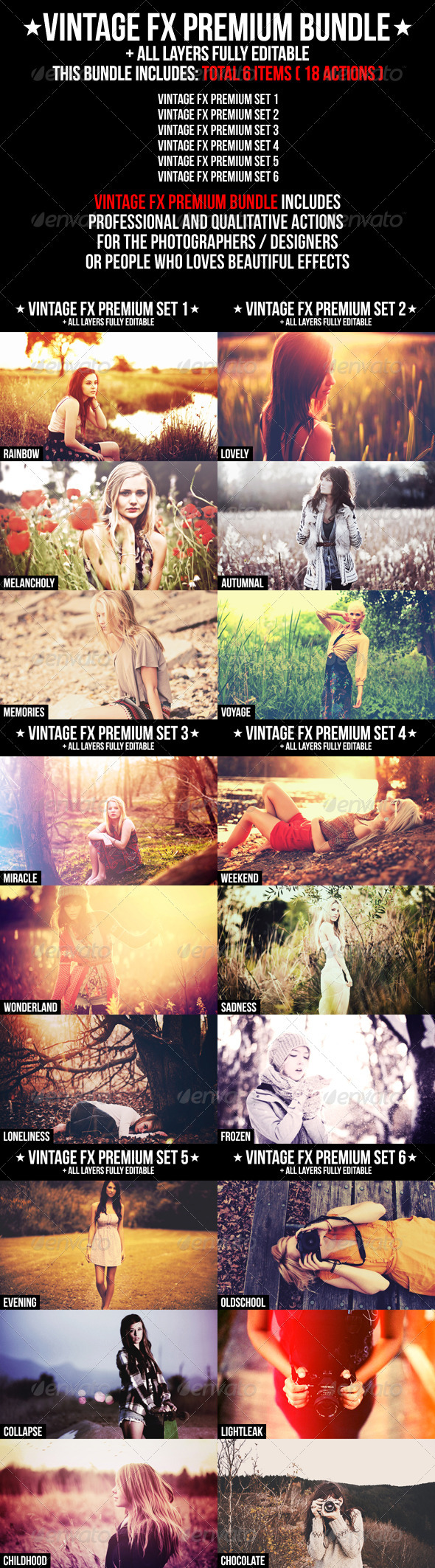 Vintage FX Premium Bundle - Photo Effects Actions