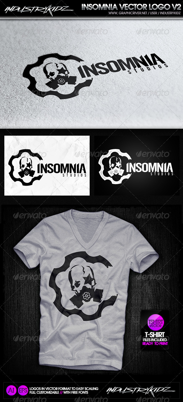 Insomnia Gas Mask Logo - Symbols Logo Templates