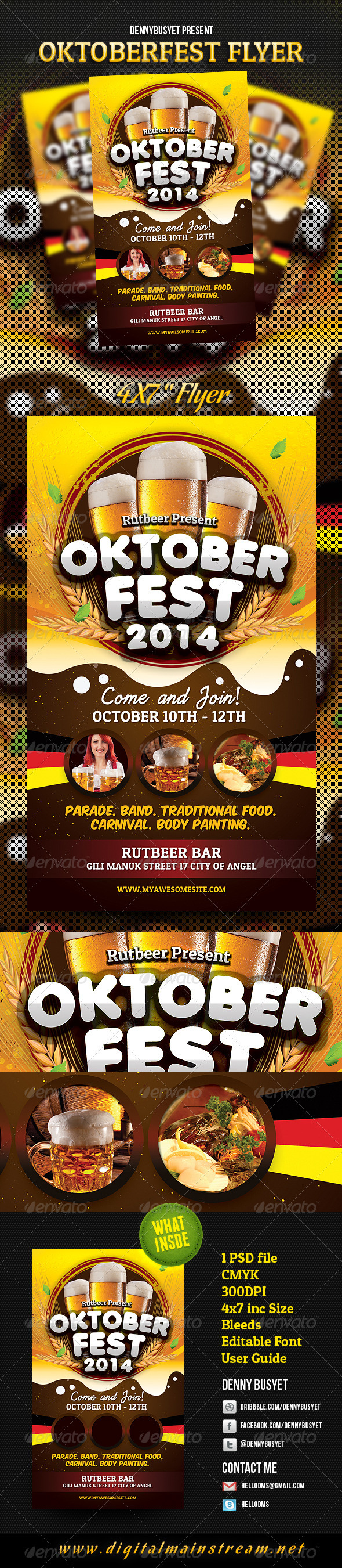 Oktoberfest Flyer Template - Events Flyers