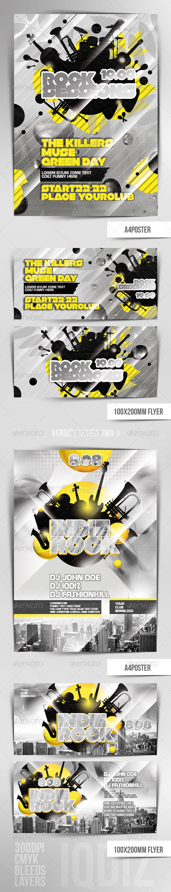 Rocky Flyers Template - Clubs & Parties Events
