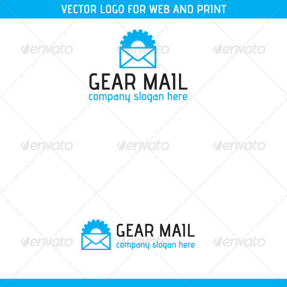 Gear Mail Logo Template - Symbols Logo Templates