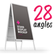 Stand Display Mockup 28 Different Angles - GraphicRiver Item for Sale