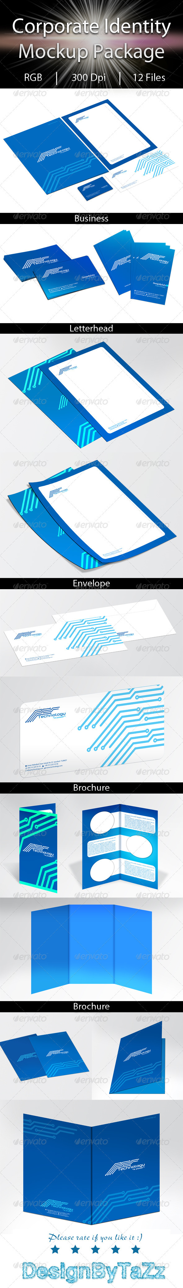 Corporate Identity Mockup Package - Stationery Print