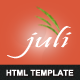 Juli Template - for freelancers and bloggers - ThemeForest Item for Sale