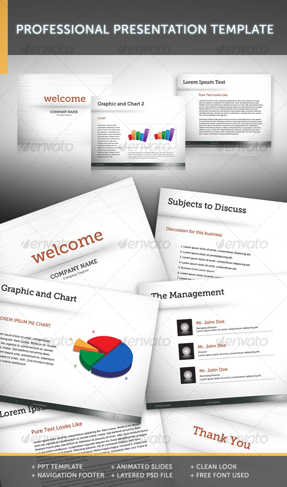 GraphicRiver Professional Presentation Template 1 104129