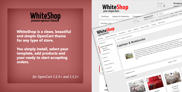ThemeForest WhiteShop Opencart 1.5.2 Theme eCommerce OpenCart 1769346