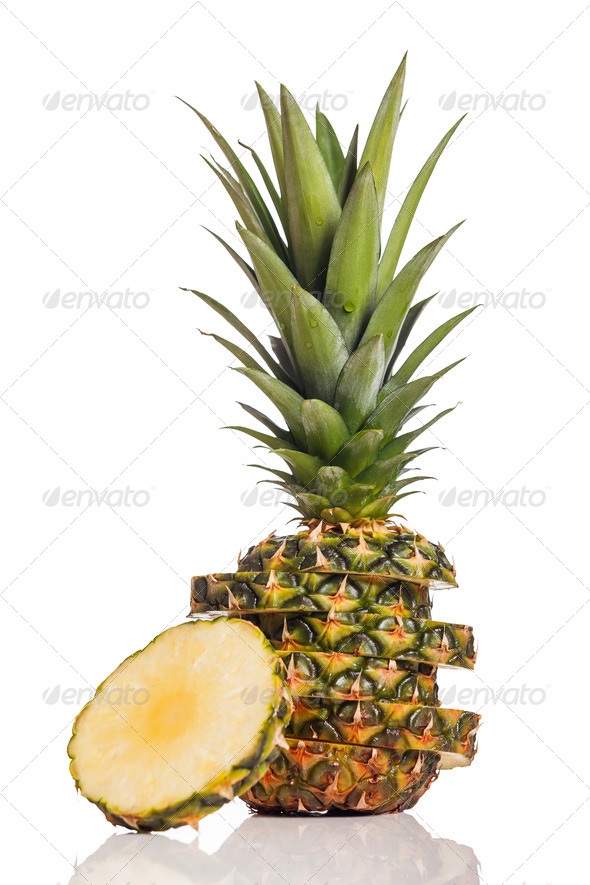 Pineapple fruit - Stock Photo - Images