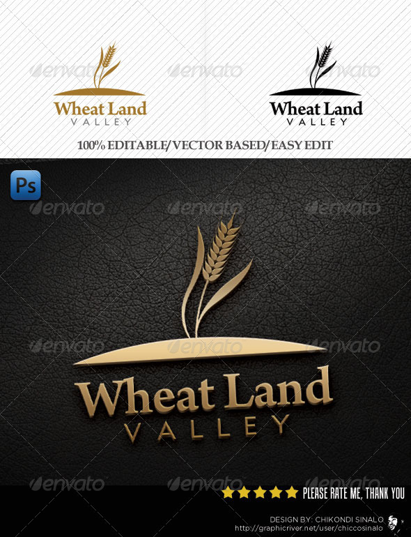 Wheat Land Logo Template - Nature Logo Templates