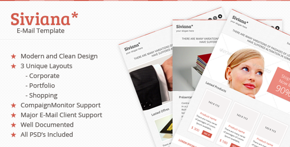 Siviana Multipurpose Email Template