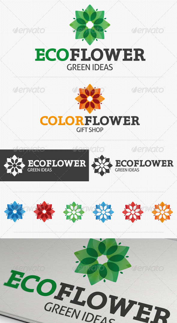Eco Flower Logo  - Nature Logo Templates