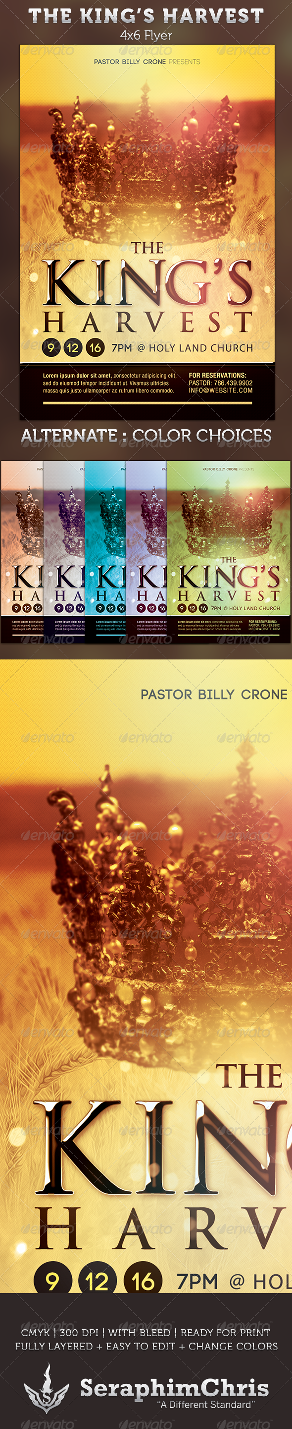 GraphicRiver The King's Harvest Church Flyer Template 2906941
