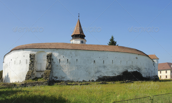 Prejmer Fortress in Romania - Stock Photo - Images