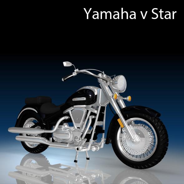 3DOcean Yamaha V Star Motorcycle 2912235