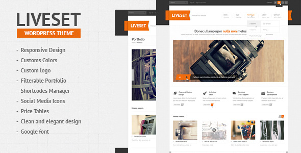Liveset - Responsive WordPress Theme