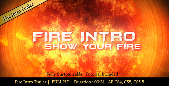 VideoHive Fire Intro Trailer 2913102