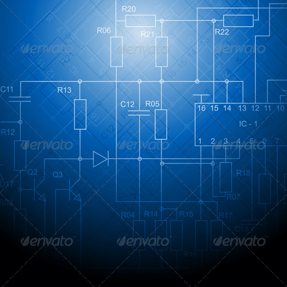 GraphicRiver Electrical scheme backdrop 2914242